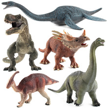 Jurajski realistyczny dinozaur modele zabawki hobby figurka figurki tyranozaur Rex Brachiosaurus Styracosaurus Parasaurolophus tanie tanio HAPPY MONKEY Puppets Unisex One Size Stay away from the fire about 17cm Remastered Version 0-12 miesięcy 13-24 miesięcy