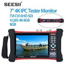 SEESII 7 «4 K 1080 P IPC caméra CCTV rétine écran tactile testeur moniteur Wifi TVI CVI AHD SDI CVBS IP découverte analogique 1920×1200
