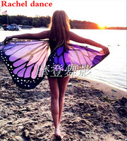 Soft Fabric Butterfly Wings Fairy Ladies Nymph Pixie Costume Accessory For Women Soft Butterfly Wing Cape Dress Scarf Long Wrap