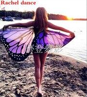 Vải mềm Cánh Bướm Tiên Nữ Nymph Pixie Trang Phục Phụ Kiện Cho Phụ Nữ Mềm Bướm Wing Cape Váy Khăn Dài Bọc
