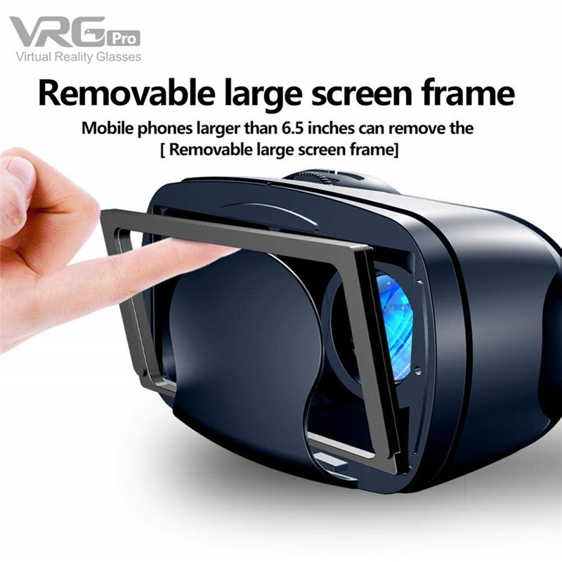 VRG Pro 3D Virtual Reality VR Glasses With Full Screen Visual Wide-Angle Glasses For 5 to 7 Inch Smartphone