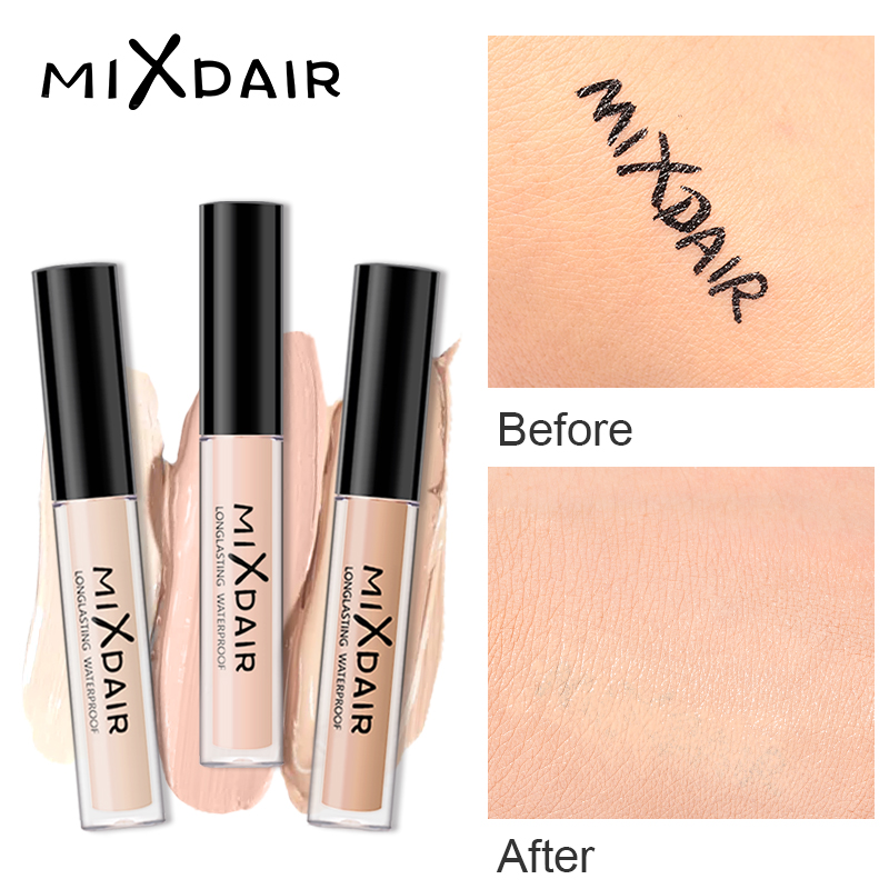 MIXDAIR Liquid Concealer Makeup For Face Full Cover Dark