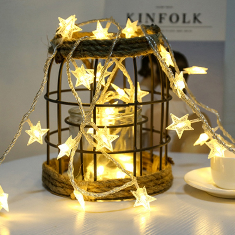 2018 Led Lanterns Star Lights String Christmas Day Window Lighting Decorative Pentagram Battery USB Plug Light String Pro