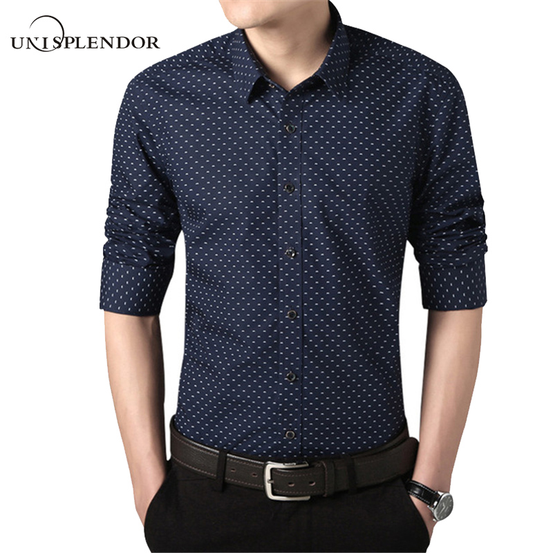 Buy 2017 new 100 cotton spring shirts for Printed shirts for men