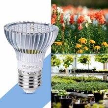 LED Grow Light Bulb 30W 50W 80W E27 LED Plant Lamp E14 220V Full Spectrum LED Phytolamp 18W 28W 110V UV Lamp Plant Bulb Seedling 28w