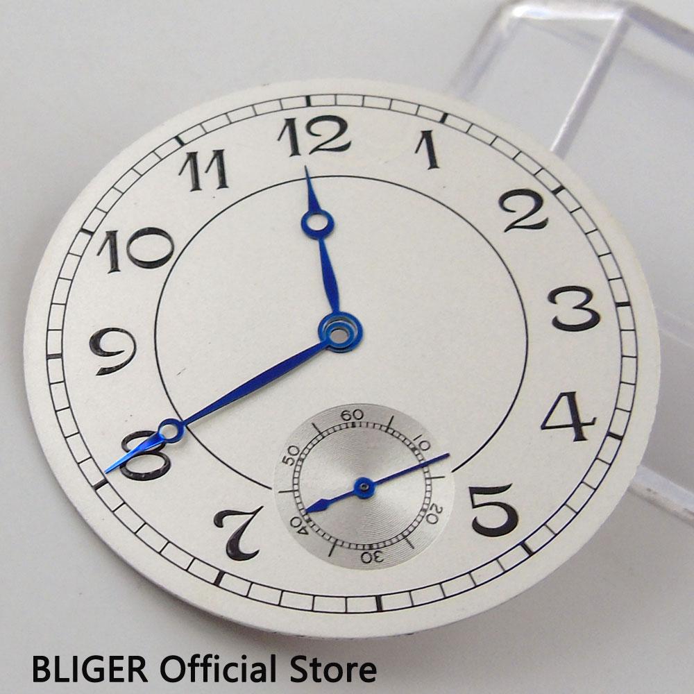 fc4c9cfb0f5 Clássico 38.9mm Branco Estéril Mostrador Preto Numerais Arábicos Mostrador  do Relógio Apto Para Mão Liquidação