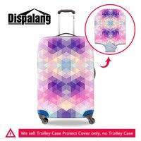 Diamante Stampa Elastica Bagagli Coperture di Protezione Per 18-30 Pollice Valigia di Spessore Dust Rain Cover Per Il Caso di Viaggi Bagagli protezione