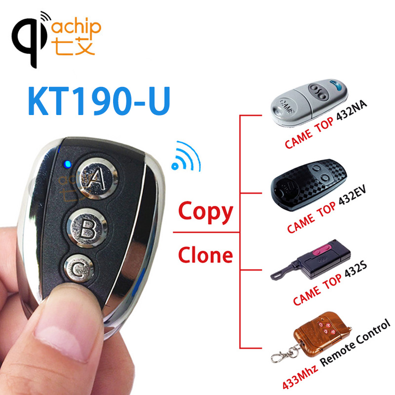 Qiachip 433mhz Rf Cloning Remote Control Duplicator Clone Came Top 433.92 Mhz Universal Transmitter Key Fob For Garage Door Gate