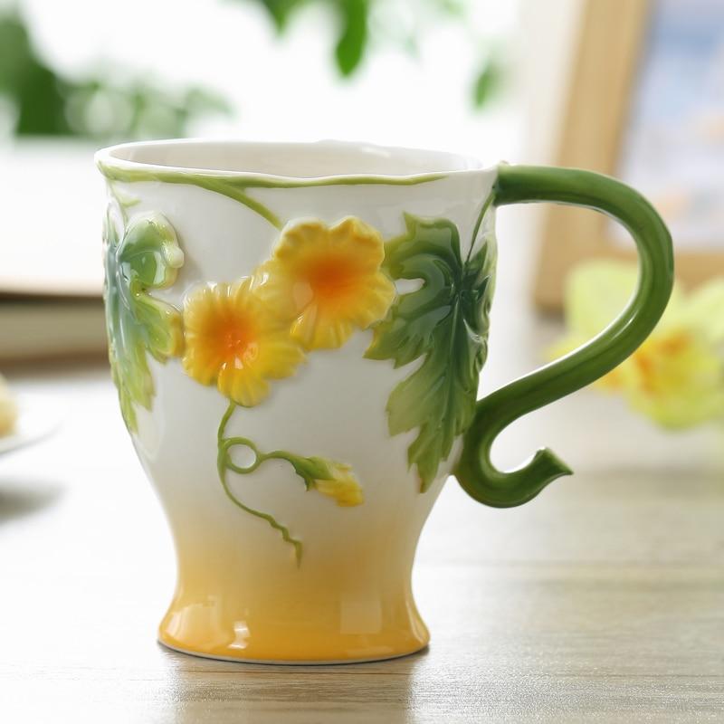 Jauns ierašanās porcelāna kafijas tases krūze Keramikas dzērieni Mājsaimniecības brokastis mīlētāji Copa Set