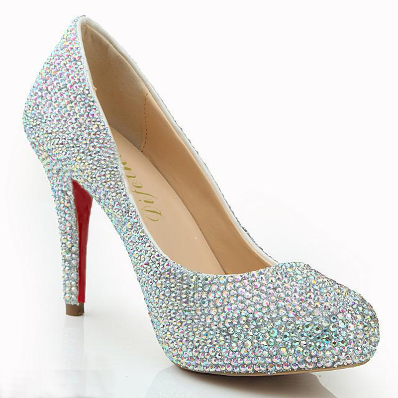 Aliexpress.com : Buy Fashion DIFEINA Rhinestone Shoes Sequined ...