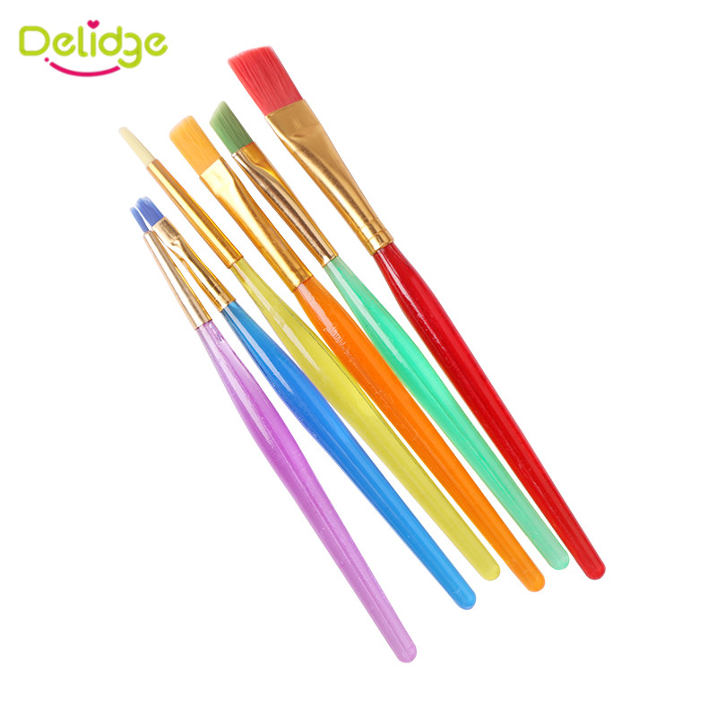 Delidge 6pcs set Cake Brush Fondant Cake Decorating Painting Brush DIY Sugarcraft Baking Pastry Tools Kitchen Accessories in Pastry Brushes from Home Garden