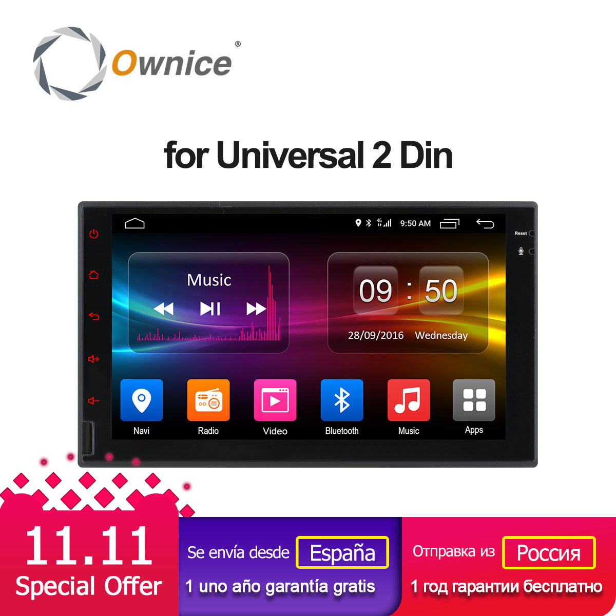 Ownice C500 Android 6.0 Octa 8 Core 2G RAM Support 4G DAB+ DVR 32G ROM Radio 2 din car radio player For Universal no dvd ownice c500 g10 octa core 2gb ram 32g rom android car dvd 8 1 gps for mazda 6 summit 2009 2015 wifi 4g lte radio dab dvr