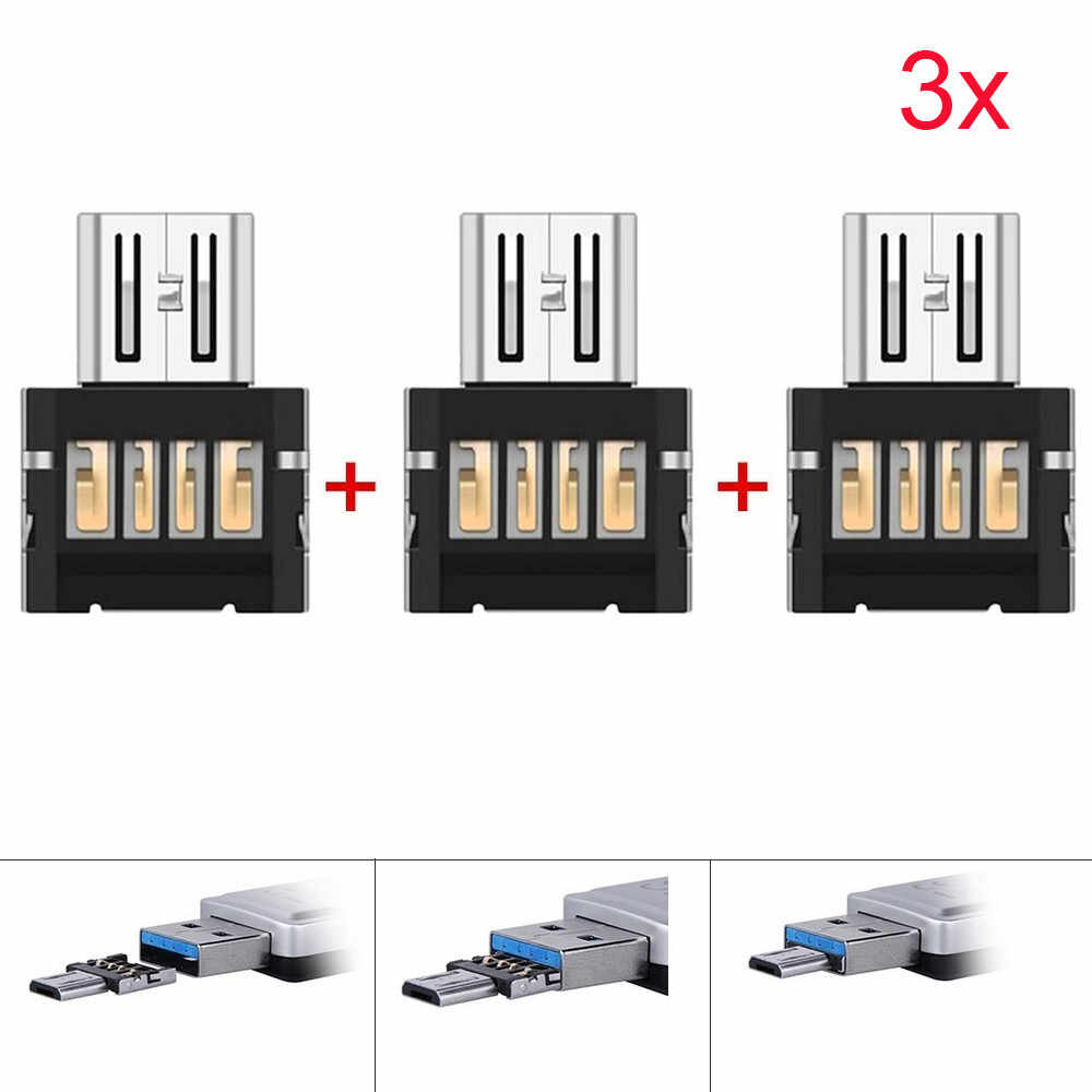 3Pcs USB OTG Micro USB Male To USB Female OTG Adapter Converter For Android Tablet Phone for Samsung huawei xiaomi#L25