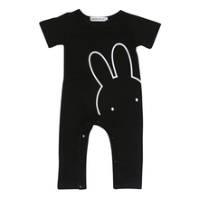 2017 fashion Baby Clothes  cool rabbit Baby Rompers Newborn Clothes Baby Boys Girls Clothing toddler suit short sleeve outfits