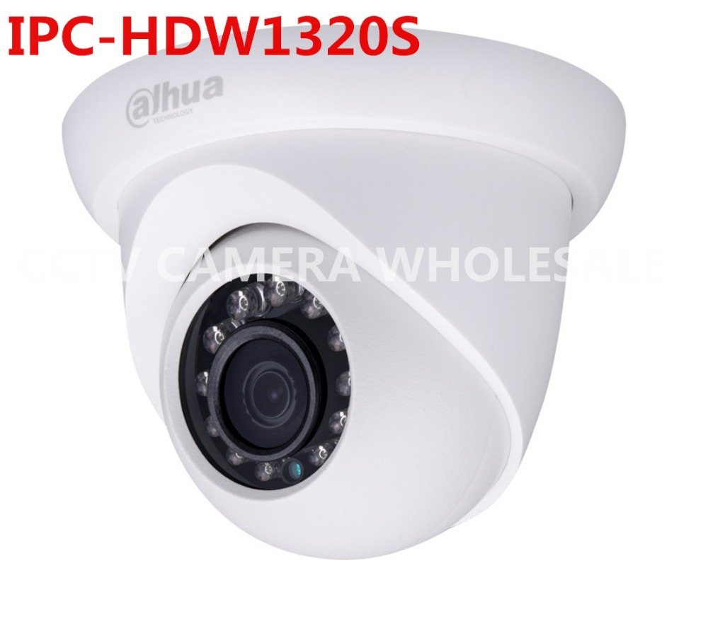 DAHUA 3MP IP IR Dome Camera 20M IR Distance IP66 IPC-HDW1320S,HDW1320S new model replace for IPC-HDW4300S