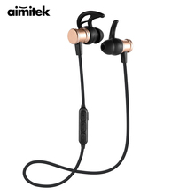Aimitek Wireless Bluetooth Earphones Sport Hifi Earbuds Handsfree With Microphone For IOS Android Smartphone Magnetic Headphones