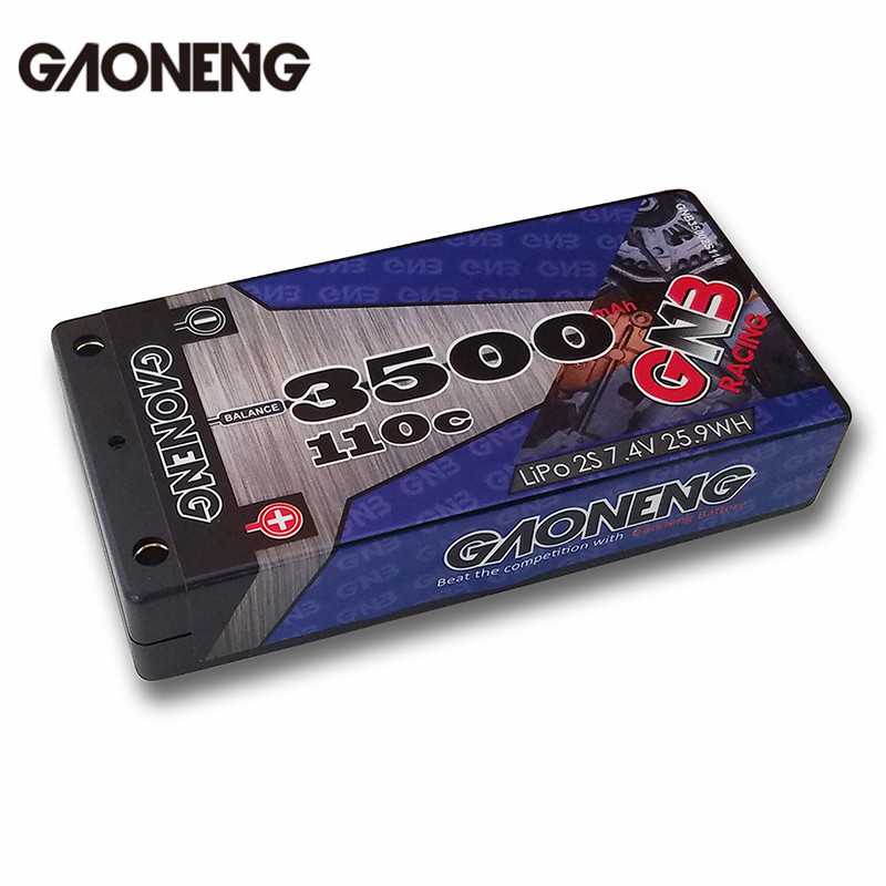 Gaoneng GNB 7.4V 3500MAH 2S 110C Lipo Battery T Plug For 1/12 RC Car Batteries For RC Toys Models rechargeable lipo battery gaoneng gnb 7 4v 450mah 50c 2s lipo battery jst plug