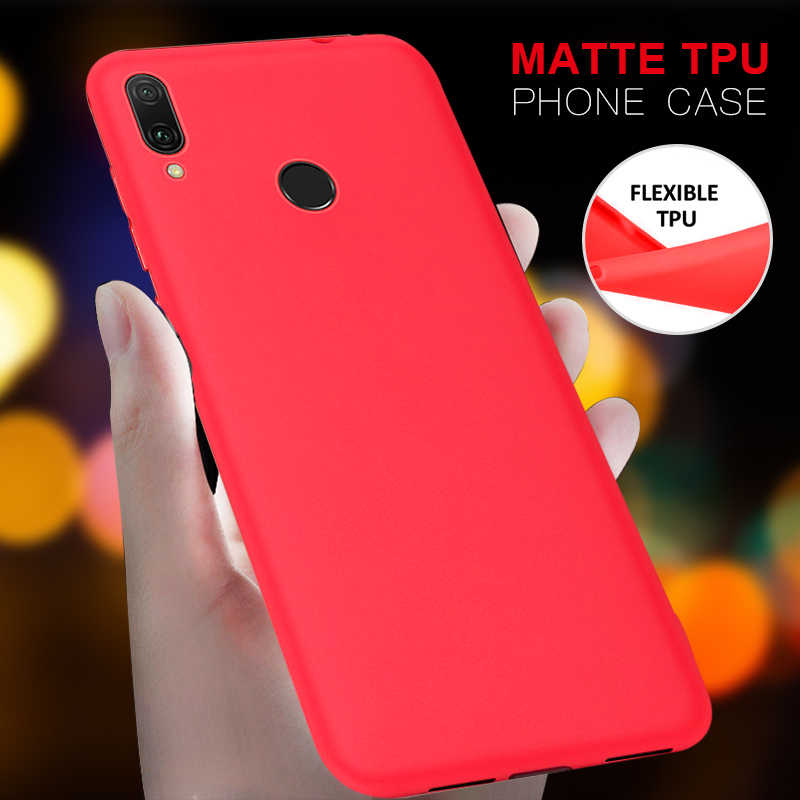 Matowy miękki silikonowy TPU etui na Huawei Y7 Prime Y9 2018 2019 Mate 10 20X P20 P30 Pro Lite dla Honor 7C pro 8X Max 8C 10 9 Lite