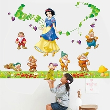 Free shipping DIY Snow White Wall Sticker 60x90cm Transparent Removable PVC Cling Princess & Bed Room Decor Mixable