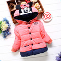 2016 новый верхняя одежда хлопка зимнее С Капюшоном пальто Зимняя Куртка Дети детская зимняя одежда Девушки Вниз и Парки TQ8078