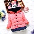 2016 nova 2-7 anos casacos de algodão casacos de inverno Com Capuz Jaqueta de Inverno Crianças roupas de inverno Meninas das crianças Para Baixo & Parkas TQ8078