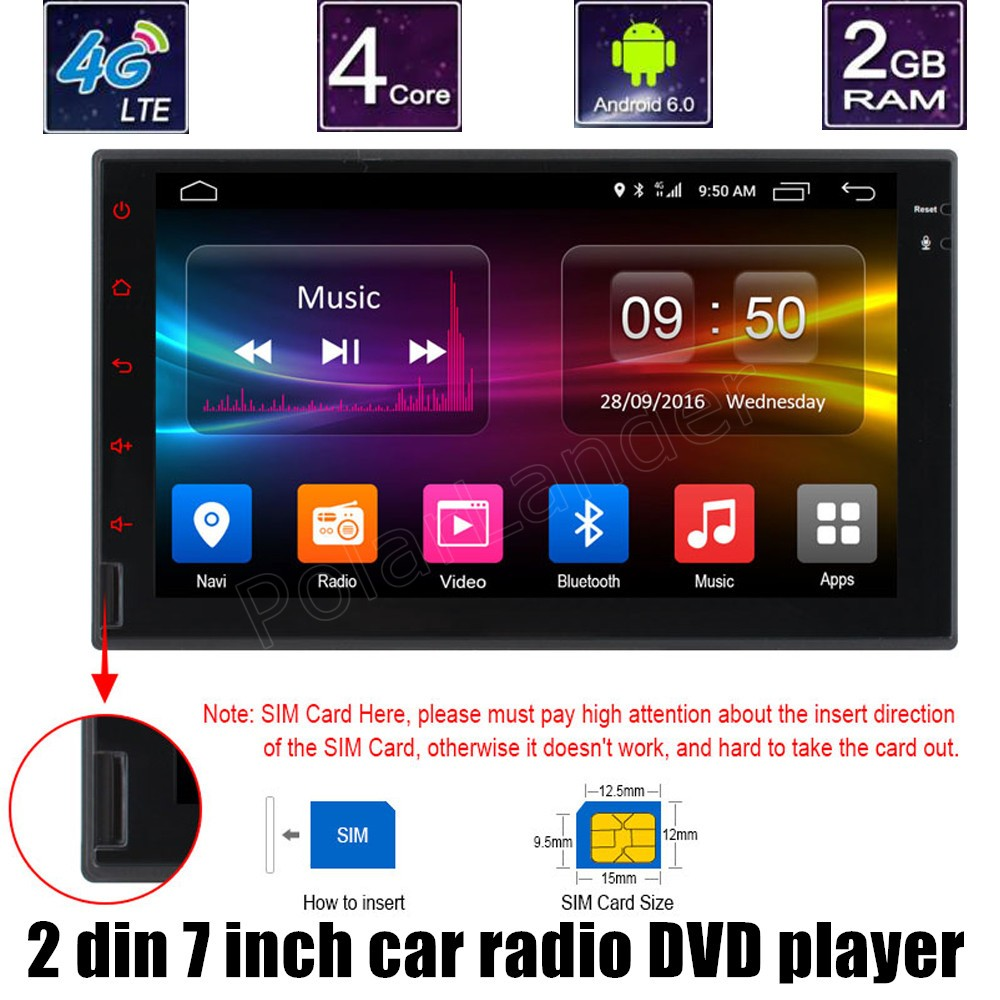 2 Din 7 Inch Touch Screen Mirroring Car Dvd Player Gps Navi Support Rear Camera Steering Wheel Control Radio Stereo Din Player Screen Car Radioradio Player Car Aliexpress