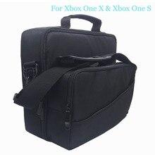 Многофункциональная дорожная сумка для переноски для Xbox One X/S сумка через плечо с ремешком игровой держатель диска