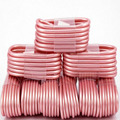 10pcs Rose Gold 8 Pin USB Charger Cable Line Charging Data Cord String For iPhone 7 6s Plus SE 5S ipad Air Mini 2 Touch 5 6 Wire