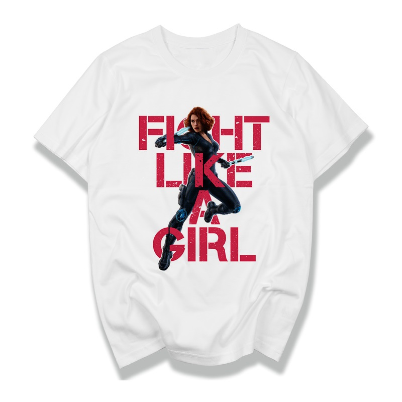 Fight Like A Girl Spider Man Spiderman Superman Captain America Shield Homecoming Cosplay Costume T Shirt T-Shirt For Men Women