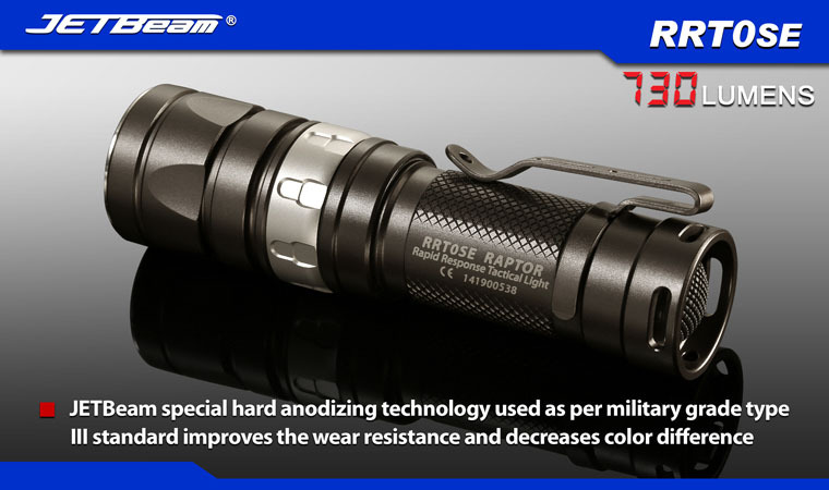 Free Shipping 2014 Original JETBEAM RRT0SE Cree XM-L2 LED 730 lumens flashlight daily torch Compatible with CR123A AA battery free shipping 2014 original jetbeam rrt26 cree xm l2 led 980 lumens flashlight daily torch compatible with 18650 16340 battery