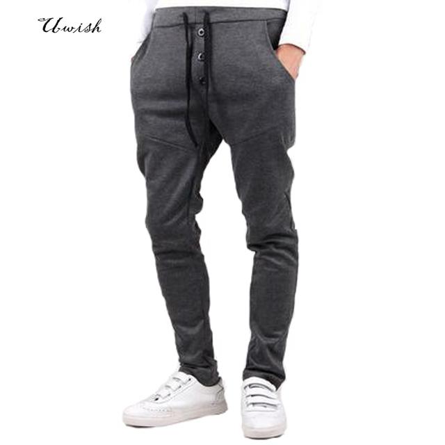 Novo 2016 mens corredores da calça fitness pantalon homme casual calças sweatpants