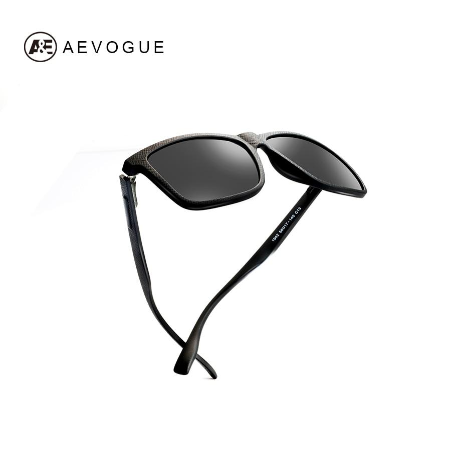 7f128d7d02 AEVOGUE polarizado gafas de sol de cuero de marco de lujo TR90 cuadrado Vintage  gafas de sol para hombres/mujeres conduciendo gafas UV400 AE0628