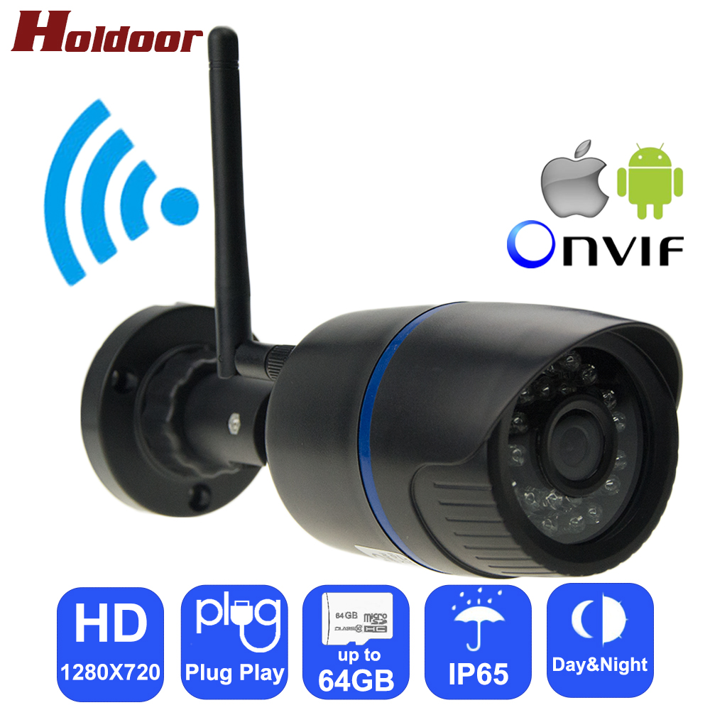 Holdoor IPC Wireless WiFi Camera HD 720P Network Cam 1280*720 IR Cut Night Vision Waterproof Onvif Android iOS Phone WebcameraHoldoor IPC Wireless WiFi Camera HD 720P Network Cam 1280*720 IR Cut Night Vision Waterproof Onvif Android iOS Phone Webcamera