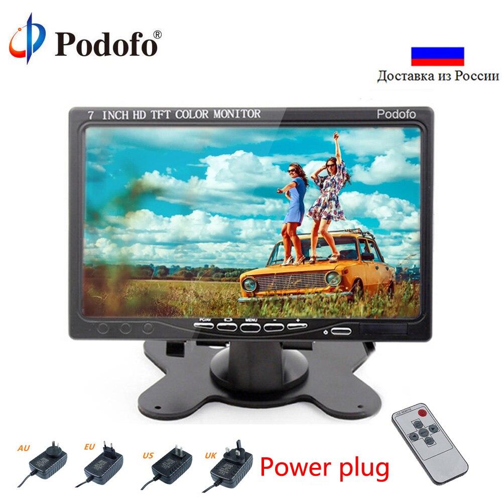 Podofo Mini Computer Monitor 7 LCD Screen Car Rear View Monitor With HDMI VGA Video Audio