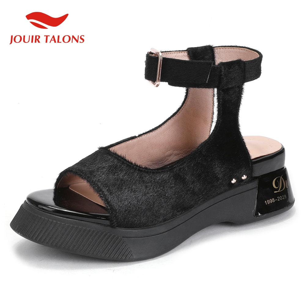 Sandals Women's Casual-Shoes Hot-Polka-Dot Genuine-Leather Summer Woman Horsehair Leisure