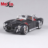 1 24 Scale Children 1965 Shelby Cobra 427 Metal Diecast Race Vintage Style Collectible Office Model