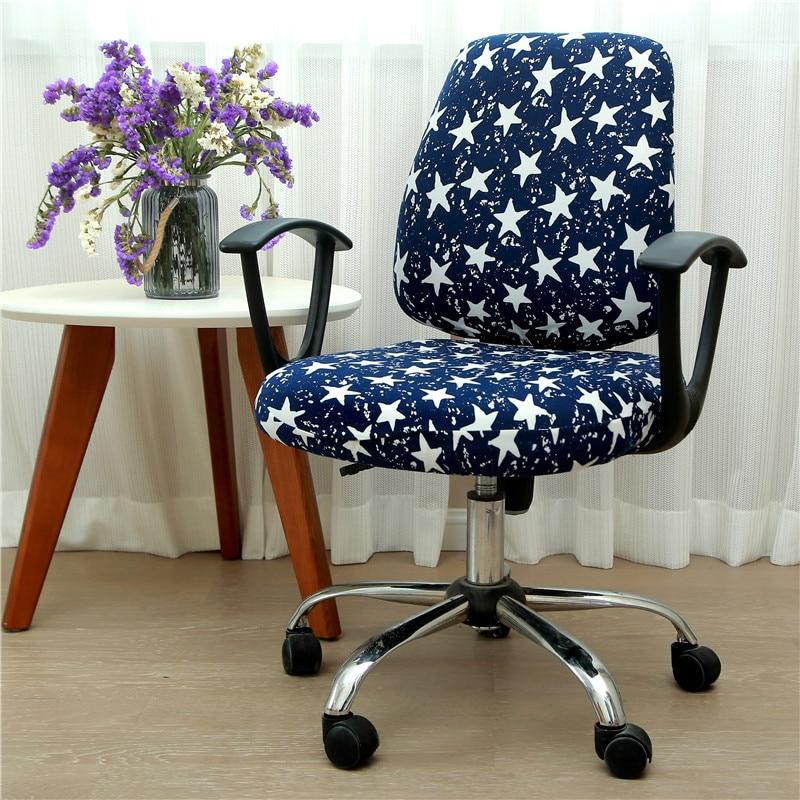 2PCS Set Office Computer Swivel Chair Cover Case Office Seat Decor Removable Set