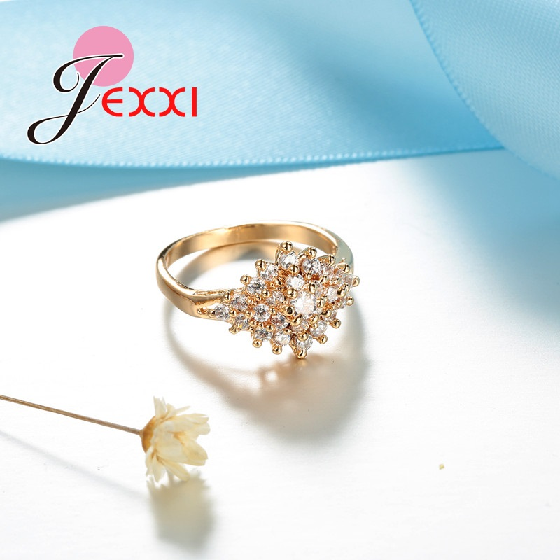 JEXXI Unique Design Lady Ring Gold color Rings for 2017 Women ...