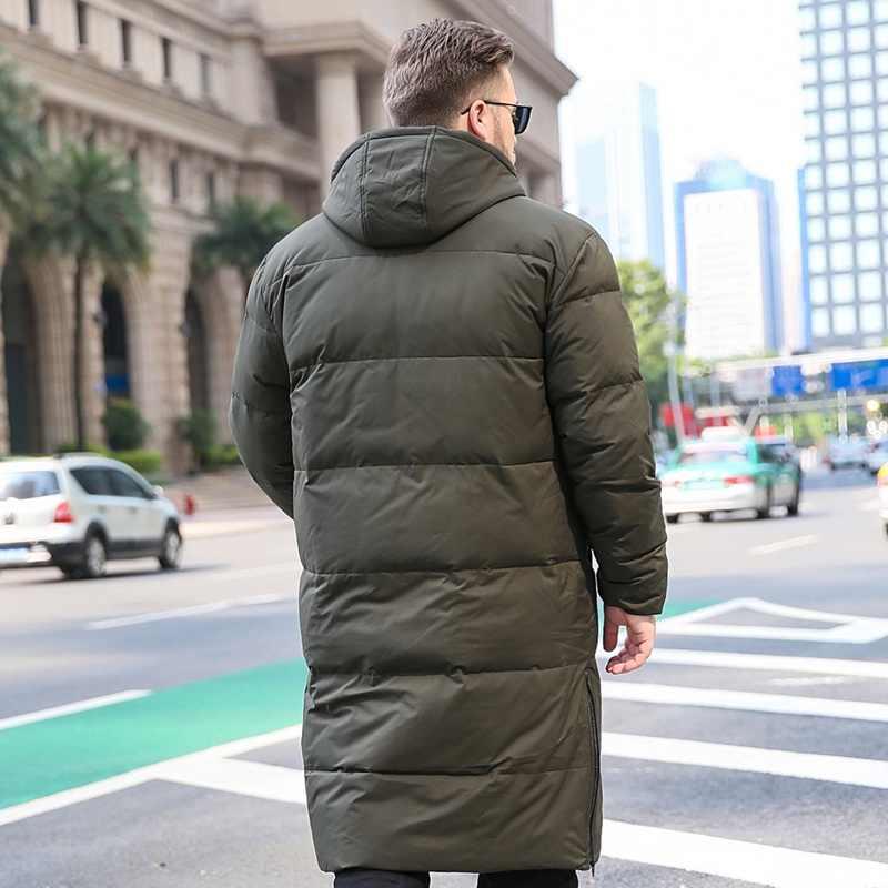 メンズダウンジャケット新男性冬の大サイズフード付きジャケット暖かいダウンコート 6XL 7XL 8XL 9XL 10XL