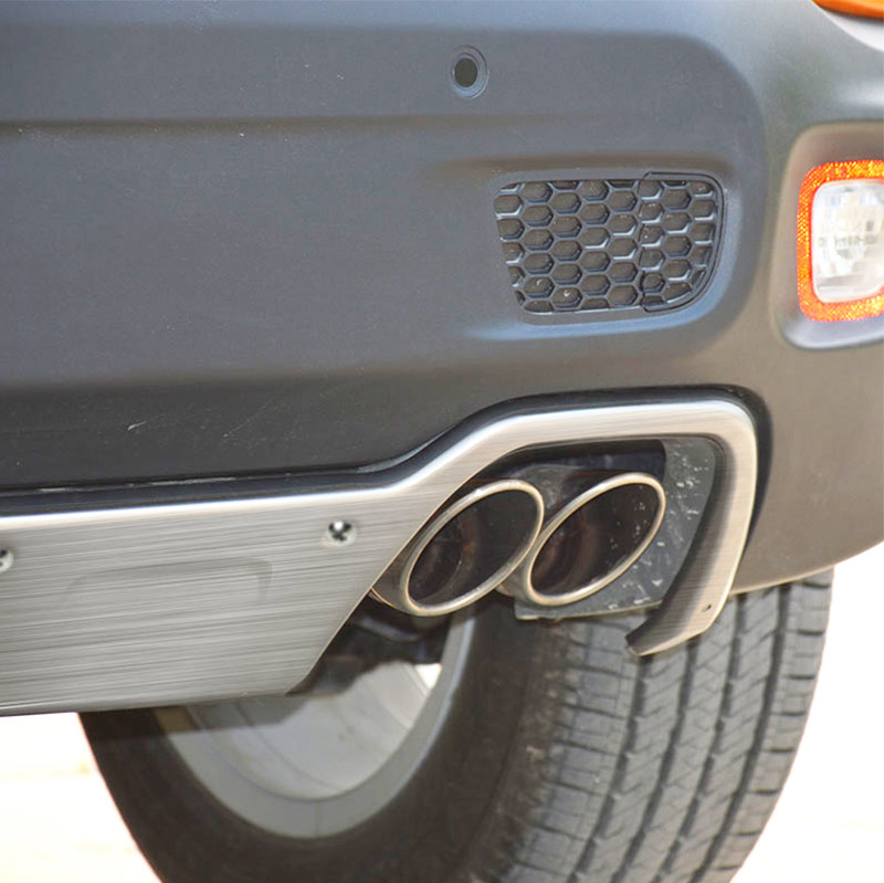 new stainless steel fit for jeep renegade 2015 2016 2017 2018 2019 dual exhaust bumper board skid plate bar protector