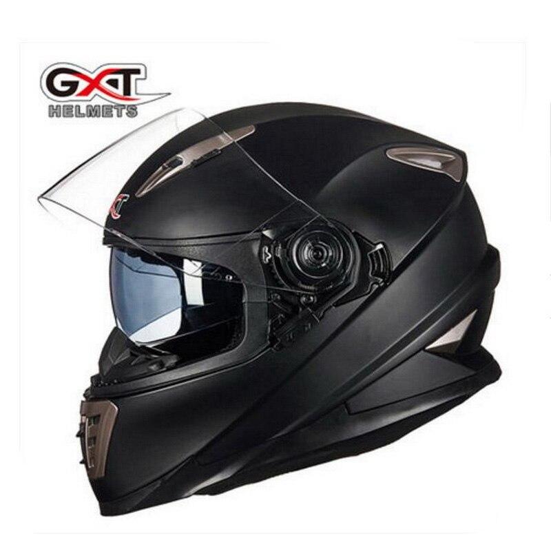 2018 Winter New Knight equipment GXT Double lens Motorcycle Helmet G 999 Full Face Motorbike Helmets Made of ABS / PC visor lens