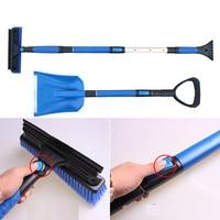 2PCS Set Home Car Snow Ice Scraper SnoBroom Stretching Snowbrush Shovel Removal Brush Set
