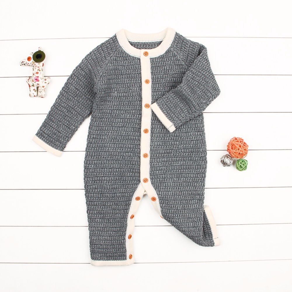 Newborn Baby Girls   Rompers   Winter Warm Toddler Boys Overalls Autumn Solid Infant Bebe Jumpsuits One Piece Children Playsuit 0-2T