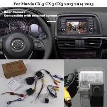 Cámara de Visión trasera Para Mazda CX-5 CX 5 2013 2014 CX5 2015-Copia de seguridad de Reversa Cámara Conjuntos RCA y Pantalla Original Compatible