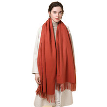 5010643493b08 2018 New Scarves For Women Winter Autumn Long Scarf Shawls Solid Tassel  Warm Faux Cashmere Poncho Fashion Wraps Pashmina Stole