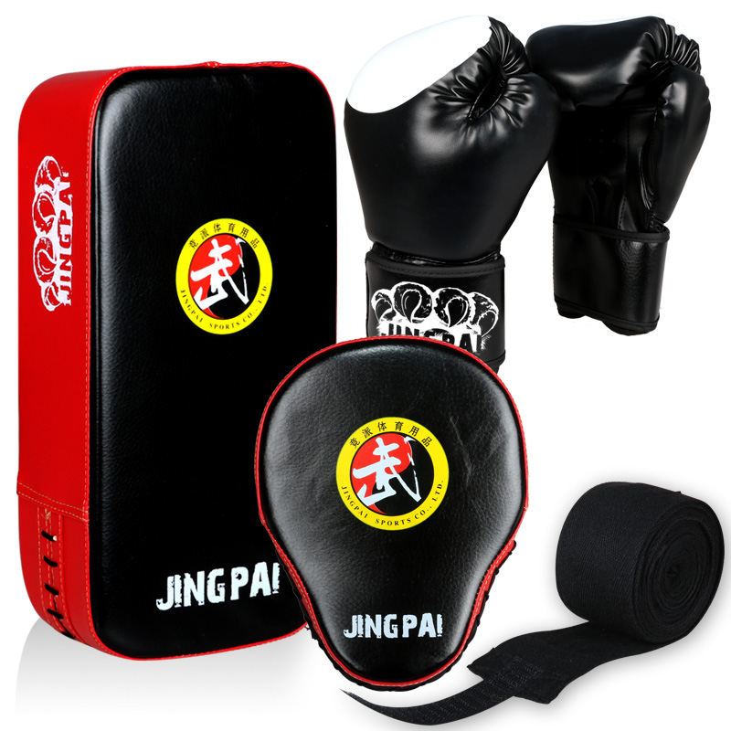 HOT SELLING SET !!! GINGPAI boxing 4 pc a set foot target hand target boxing gloves hand wraps high quality material