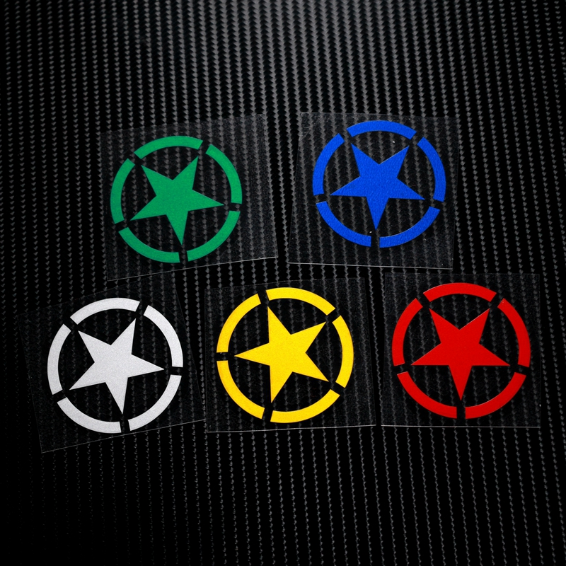 NO.LS001 Military Reflective Safe Caution Reflective Stickers&Decals MOTO GP Motocross Bike Helmet Windshield ATV Stickers