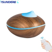 TSUNDERE L Essential Oils For Aromatherapy Diffusers Humidifier Aroma Diffuser Remote Wooden Touch Smart Humidifier 2017