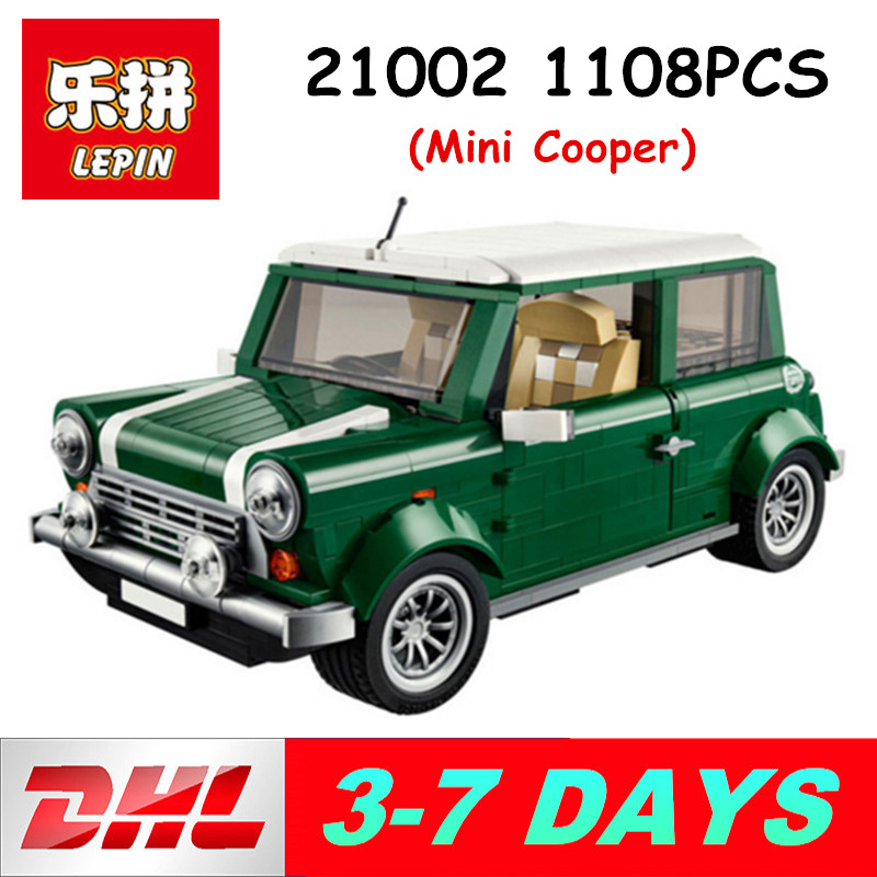 Lepin 21002 Technic Series Building Blocks Mini Cooper Model 1108PCS toys for Children Compatible Legoing 10242 Brick 1077 pcs building blocks yile 002 mini cooper model building car for kids bricks for gift compatible with lego 10242 lepin 21002