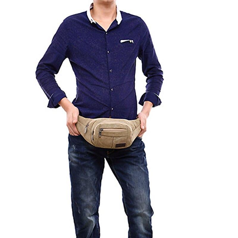 6bfde52761c Riem Pack heren Heuptasje Canvas Taille Tas Mannen Mode mannelijke Fanny  Zakken Multifunctionele Mannelijke Mobiele Telefoon Pouch Drop Been tas in  Riem ...